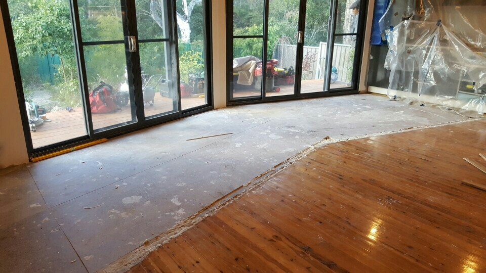 floor sanding before